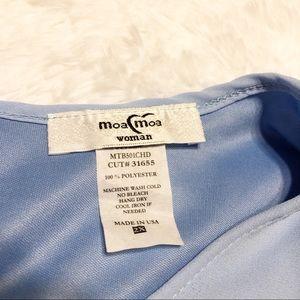 Moa Moa Tops - 2x Moa Moa Woman Layered Blue Shirt